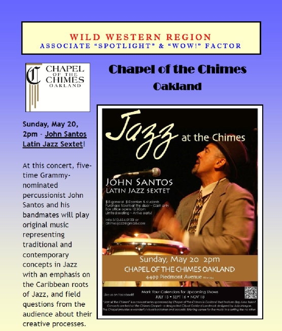 Jazz at the Chimes May 2012