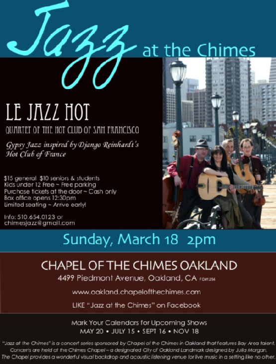 Jazz at the Chimes Flyer
