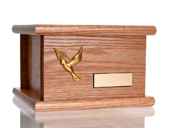 Funeral wood urn