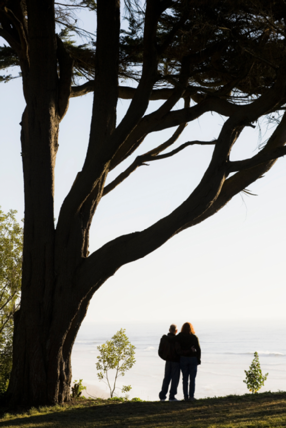 Senior Couple Overlooking Ocean