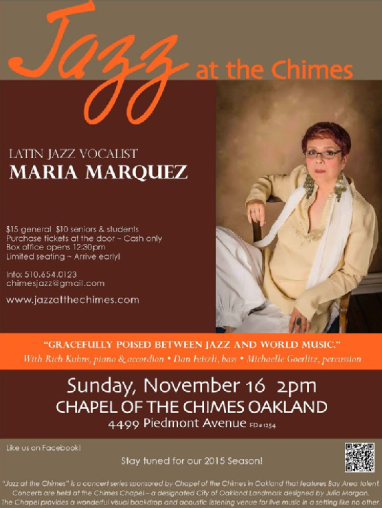 Nov 2014 Jazz at the Chimes - Chapel of the Chimes Oakland