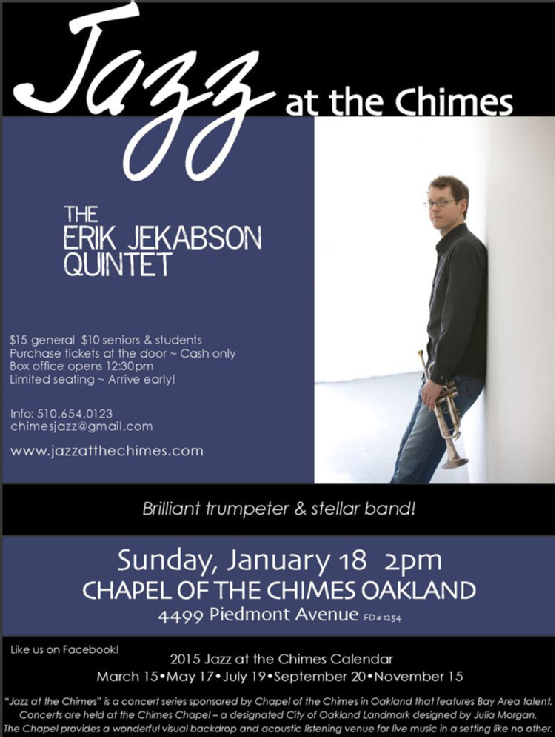 Jazz at the Chimes 1-18-15